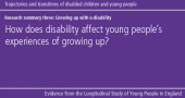Centre for Longitudinal Studies – Growing up with a disability image