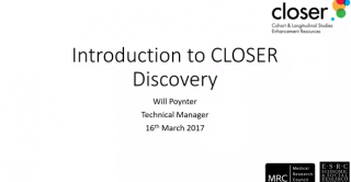 Webinar: Introduction to CLOSER Discovery (16/03/2017) image