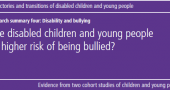 Millennium Cohort Study – Disability and bullying image