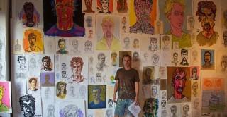 Tom Mosser self portraits