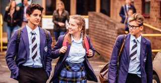 Generation Gifted: Teenagers in school uniform walk together