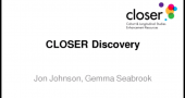 Webinar: Introduction to CLOSER Discovery image