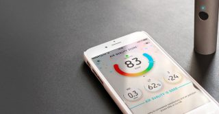 Phone app measuring air quality