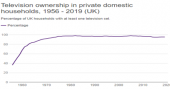 Television ownership in private domestic households image